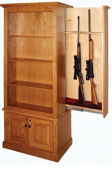 Bookcase Gun Safe by Amish Winchester Bookcase With Gun From