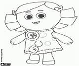 Dolly Coloring Rag Doll sketch template