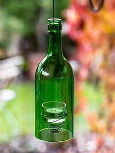 Basteln Mit Glasflaschen : diy windlicht aus alten glasflaschen basteln und dekorieren ~ Watch28wear.com Haus und Dekorationen