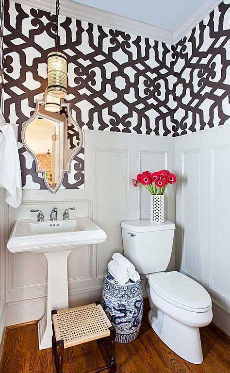 small bathroom wainscoting  wallpaper diy small home