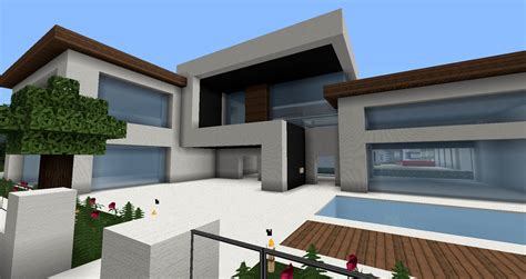 Moderne Minecraft Häuser, Wolkenkratzer  Modernes Haus