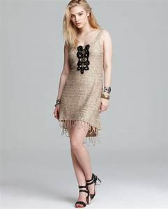 Free People Dress Golden Sands Sequin In Gold Combo