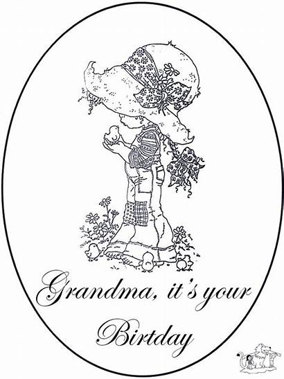 Grandma Birthday Coloring Happy Pages Cards Card