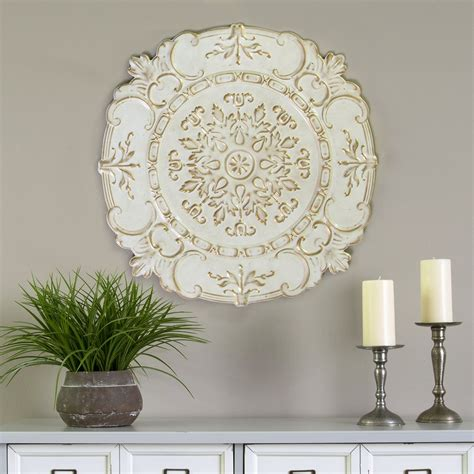We hope to improve and earn your business again in the future. Stratton Home Decor White European Medallion Wall Decor