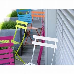Mobilier De Jardin Fermob : chaise de jardin pliante bistro m tal coloris au choix fermob ~ Dallasstarsshop.com Idées de Décoration