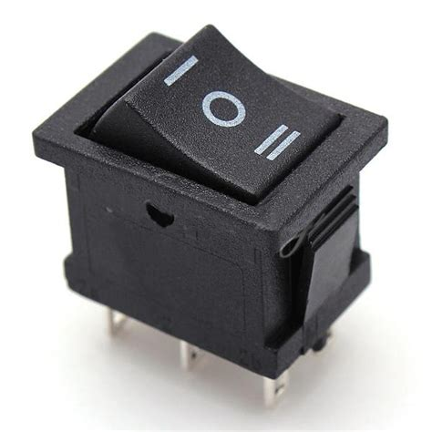 Off Pin Dpdt Position Snap Rocker Switches