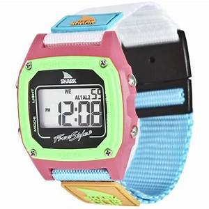 Shark By Freestyle Shark Clip Watch  Black Neon 10006644