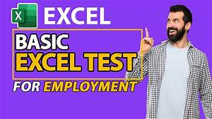 Basic Excel Test For Employment