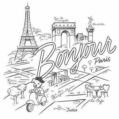 Coloring Pages Paris Adult Adults France Printable