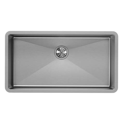 kitchen sink at home depot elkay crosstown undermount stainless steel 33 in single 8438