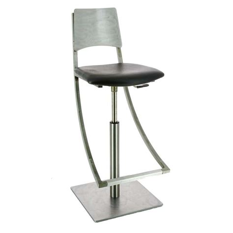 tabouret de bar design industriel r 233 glable en m 233 tal