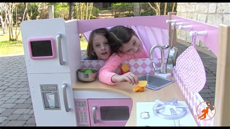 kidkraft grand gourmet corner kids toy kitchen unboxing