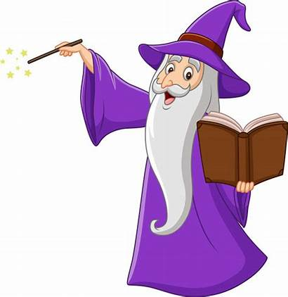 Wizard Mago Cartoon Magic Brujos Desenhos Animados