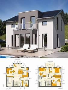 Modernes Haus Grundriss : modernes haus mit satteldach architektur zwerchgiebel putz fassade grau wei ~ Orissabook.com Haus und Dekorationen