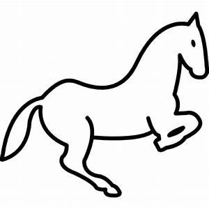 Jumping horse outline Icons | Free Download