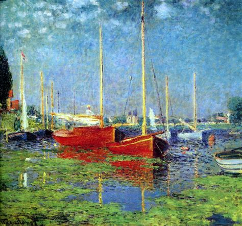 Monet Boats At Argenteuil by Argenteuil Claude Monet Wikiart Org Encyclopedia Of