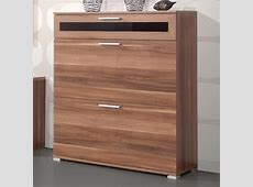 Diano Wooden Shoe Storage Cabinet In Walnut With 3