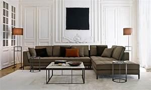 canape d39angle dans le salon pour plus de confort a la maison With tapis kilim avec max divani canapé cuir contemporain