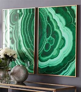 decorating with emerald and blue topaz decoholic With kitchen colors with white cabinets with geode agate wall art