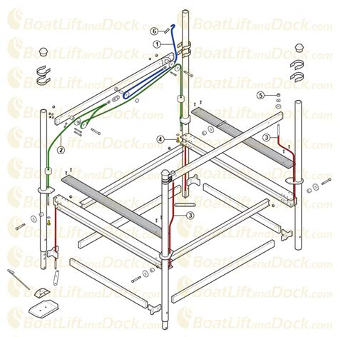 Vertical Boat Lift Cable Routing by How To Replace Your Shorestation Winch Cable Diy With