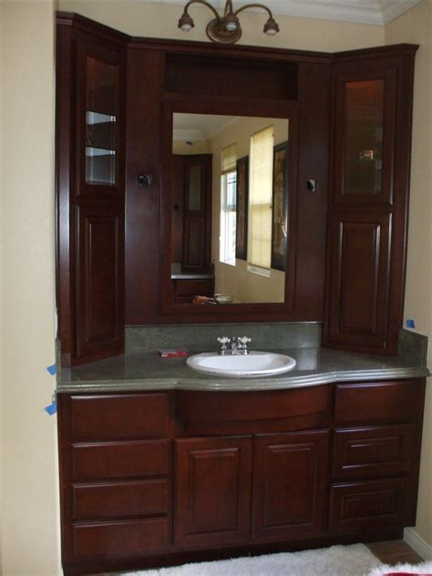 Bathroom Cabinet With by Get A New Bathroom Vanity Woodwork Creations