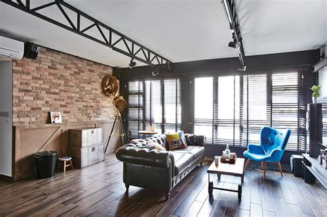 Industrial Home Style : Industrial Chic Hdb Flat Homes With Trendy Ideas