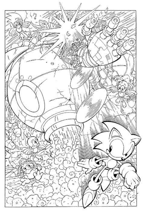 coloring page sonic coloring pages