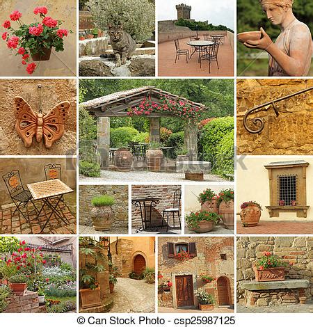 classic beautiful tuscan style terrace collection  images