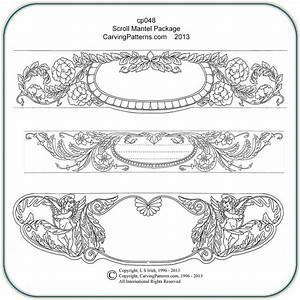 Scroll, Mantel, Patterns, U2013, Classic, Carving, Patterns