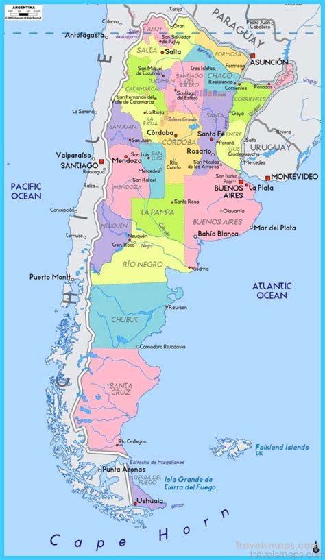 map  argentina travelsmapscom
