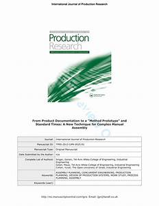 Pdf  From Product Documentation To A Method Prototype And