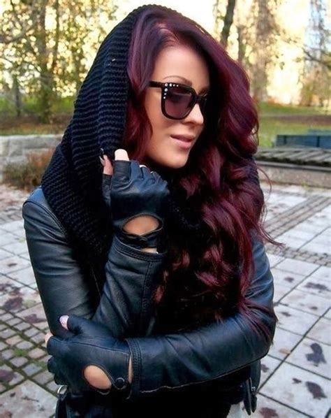 bold black cherry hair ideas  embrace  fall styleoholic