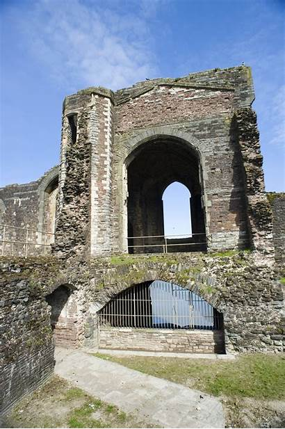 Newport Castle Ruins Wales Arched Doorways Stone