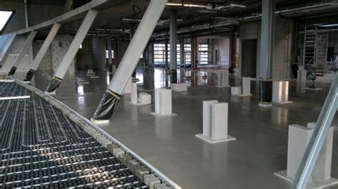 Anhydrite screeds   Our services   Industrial floors