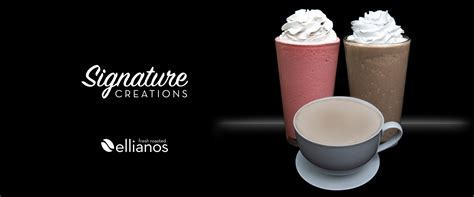 Ellianos offers several varieties of hot, iced and frozen coffee drinks, including espresso shots. Ellianos Coffee Company | Espresso, Smoothies, Tea