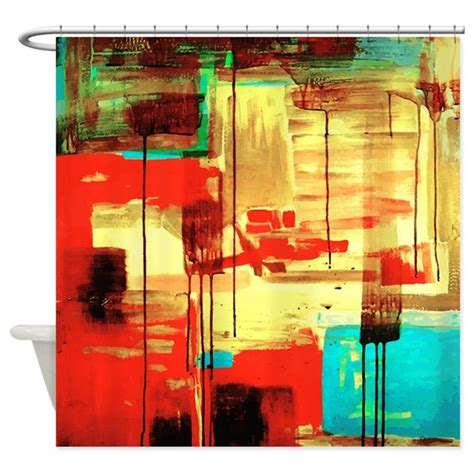 painting shower curtain abstract painting shower curtain by bestshowercurtains