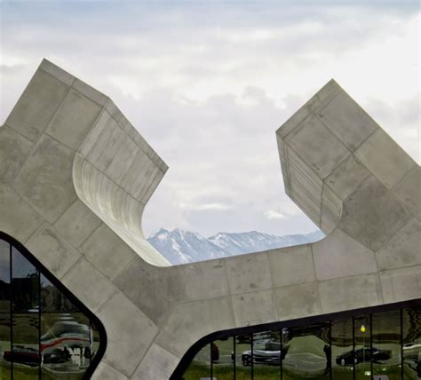 unique highway rest stop building  ramify shaped