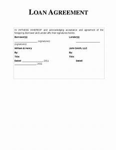 Personal Loan Agreement Letter Template For Loan Between Friends  vlashed