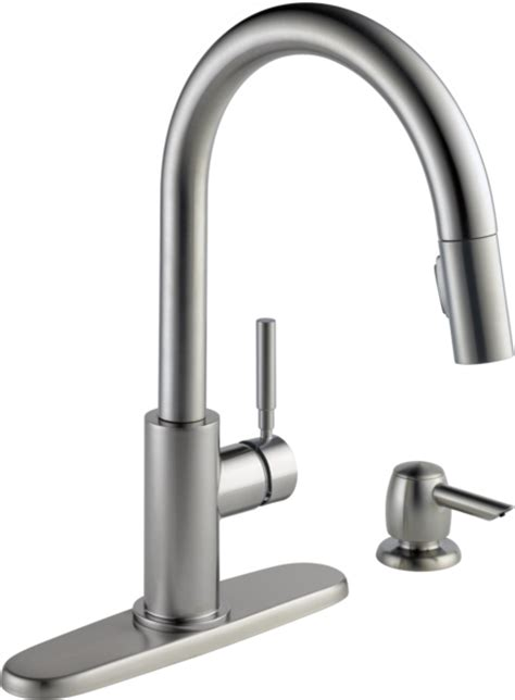 single handle pull  kitchen faucet  soap dispenser