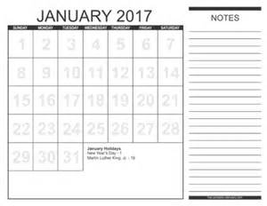 2017 Calendar Printable Free