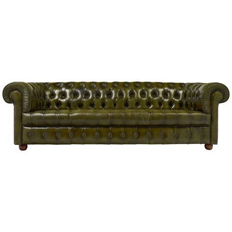 chesterfield sofa leather for sale vintage green leather chesterfield sofa for sale at 1stdibs