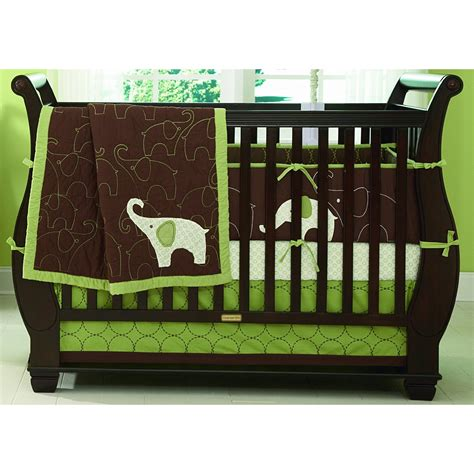 baby elephant crib bedding baby bedding s elephant 4 crib set on