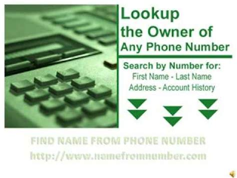 find phone number by name find name from phone number