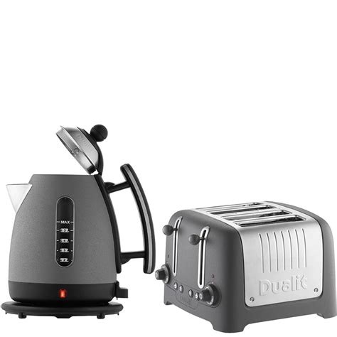 kettle and toaster dualit jug kettle and 4 slot toaster bundle granite iwoot