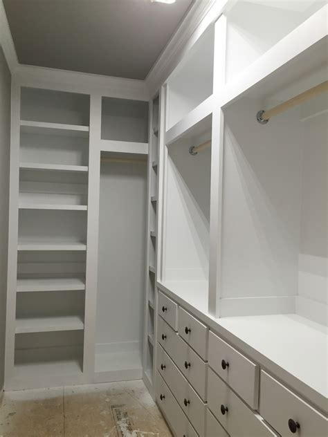 How To Make A Built In Wardrobe Closet by White Built In Closet Diy Projects
