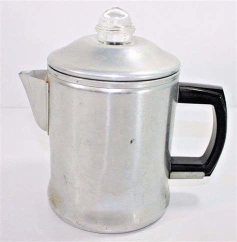 Whether you're using a campfire and grate. VINTAGE CENTURY ALUMINUM PERCOLATOR COFFEE POT CAMPING HIKING STOVE TOP | Percolator coffee pot ...