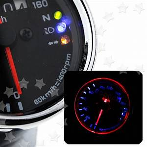 Motorcycle Dual Odometer Speedometer Gauge Led Background
