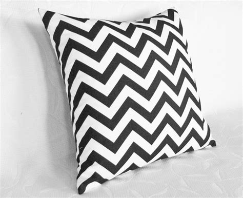 black and white pillow black and white chevron pillow contemporary decorative