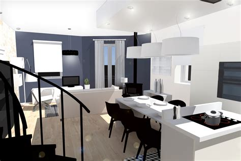 amenager cuisine salon 30m2 amenagement sejour 30m2 fashion designs