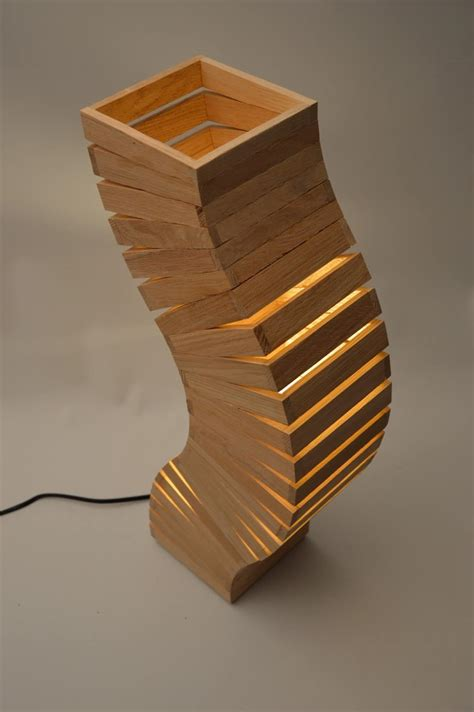 oak wood spine lamp id lights